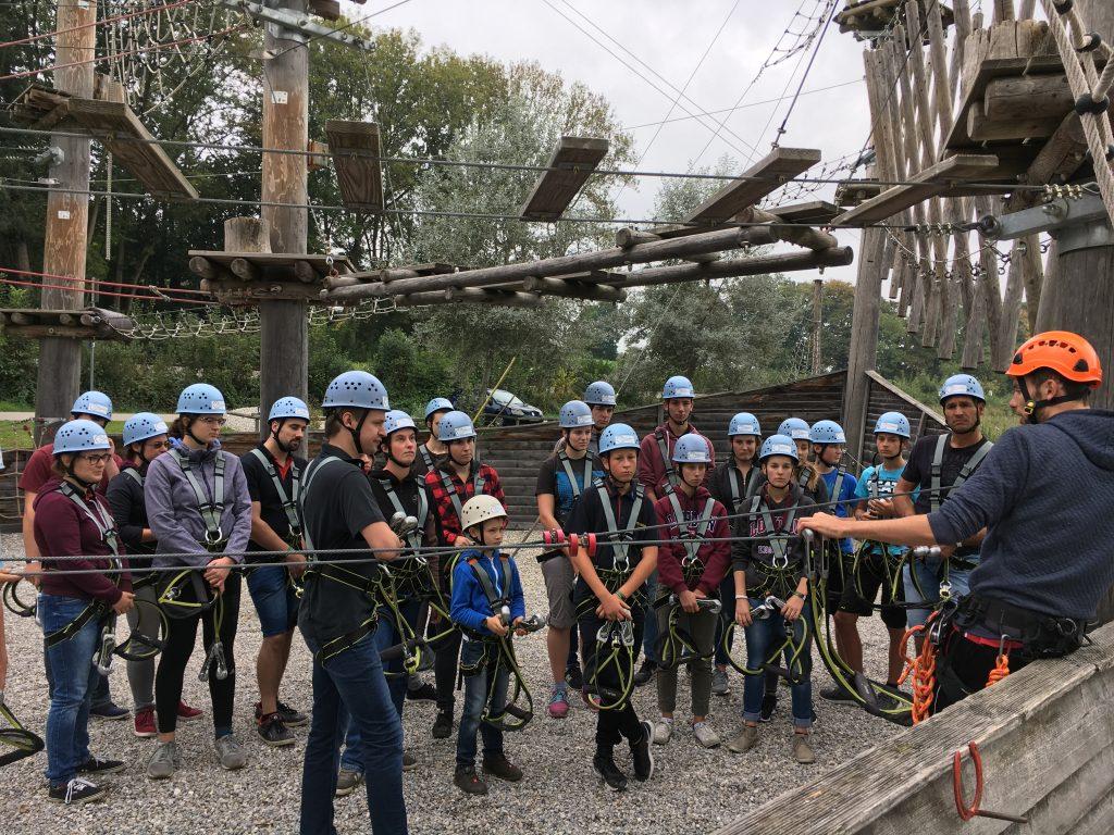 Vereinsausflug in den Klettergarten 2018